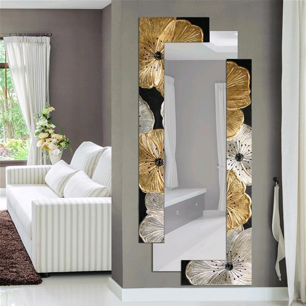 Pintdecor specchiera specchi di arredamento petunia oro scomposta cm 190x80 ebay - Quadri a specchio moderni ...