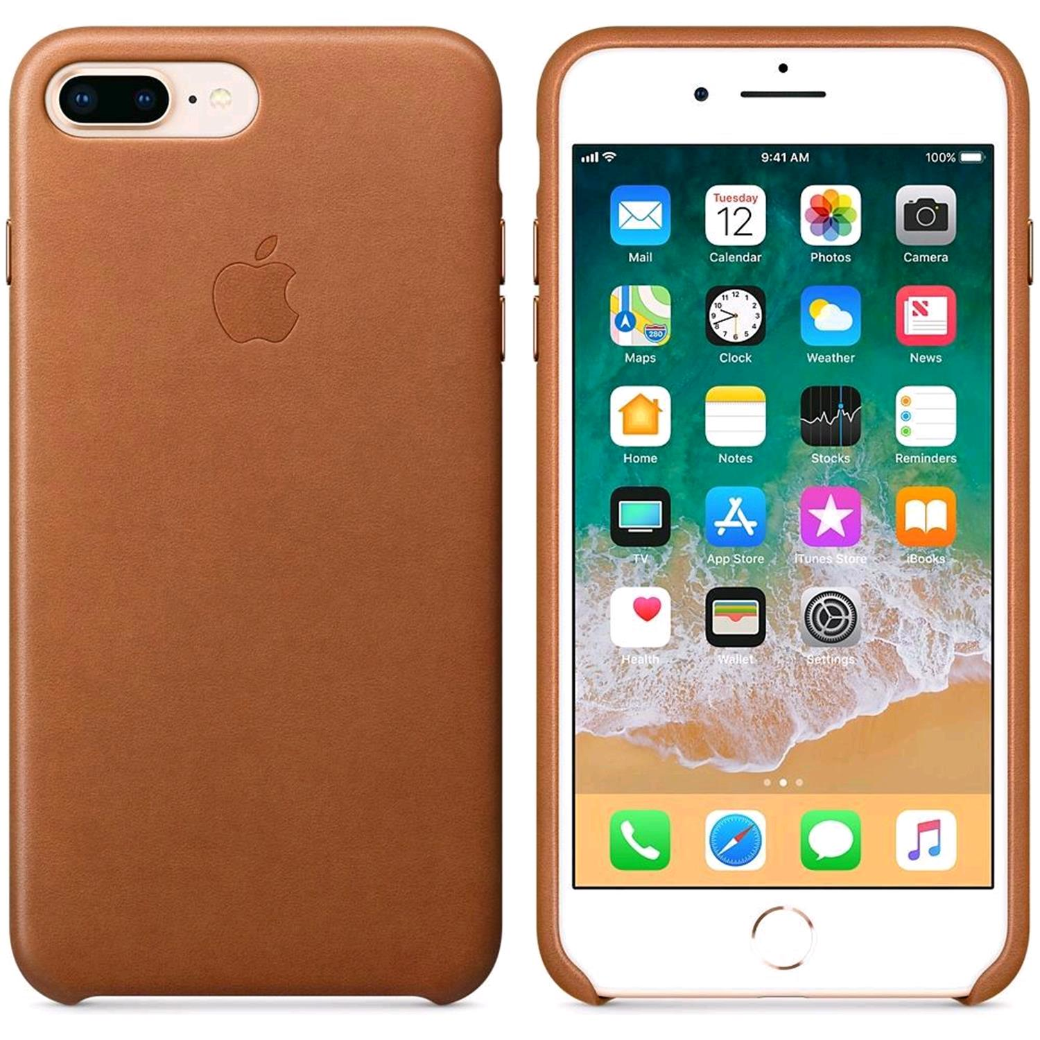 belle et charmante rechercher l'original répliques APPLE iPHONE 8 PLUS / 7 PLUS COVER ORIGINALE COLORE MARRONE