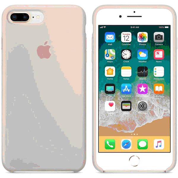 218998 - APPLE iPHONE 8 PLUS/7 PLUS COVER ORIGINALE IN SILICONE COLORE ROSA - APPLE